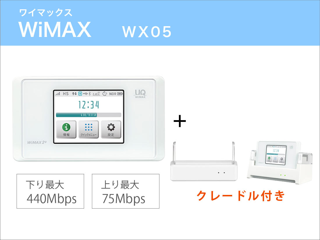 WiMAX WX05 クレードルセット